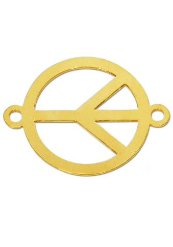 Adelia´s Kettenanhänger »Peace Frieden Anhänger 925 Silber vergoldet« kaufen