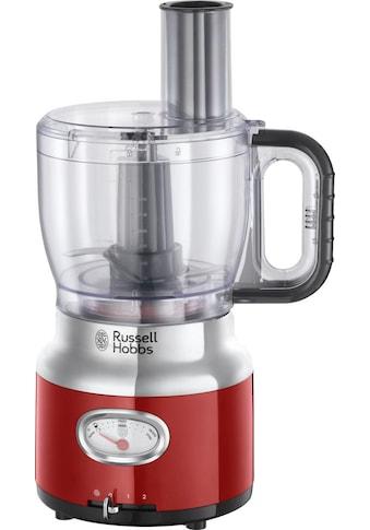 RUSSELL HOBBS Zerkleinerer »Retro Ribbon Red Food Processor 25180-56«, 850 W, 1,7 l... kaufen