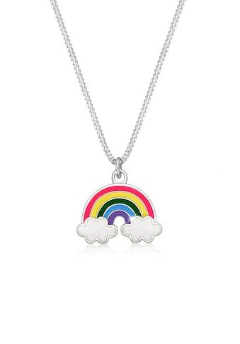 Elli Kette mit Anhänger »Kinder Regenbogen Wolke Emaille Happy 925 Silber« kaufen