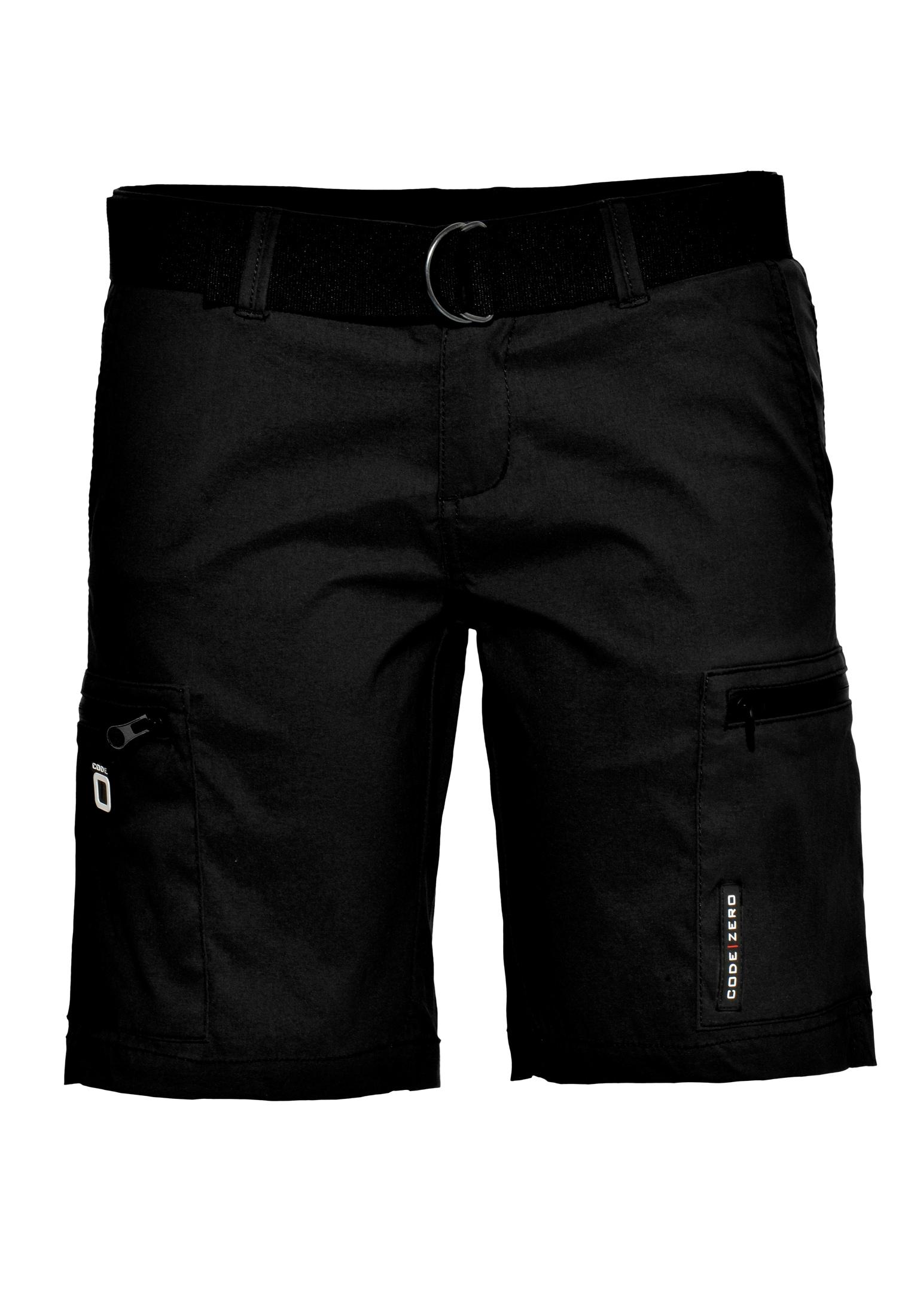 CODE-ZERO Shorts Luff Short Damen, Gürtel schwarz Damen Kurze Hosen