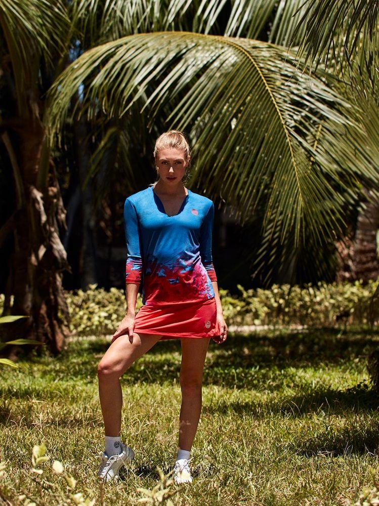 BIDI BADU Tennisrock aus schnell trocknendem Material | Sportbekleidung > Sportröcke > Tennisröcke | Rot | Bidi Badu
