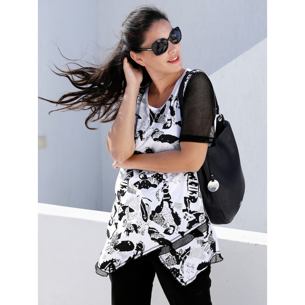 MIAMODA Print-Shirt, mit modischem Druck