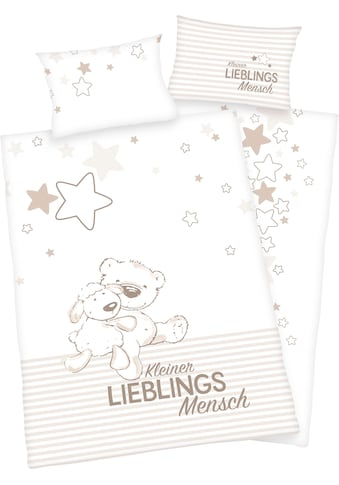 Baby Best Babybettwäsche »Kleiner Lieblingsmensch«, mit Bärchen Motiv und liebevollem... kaufen