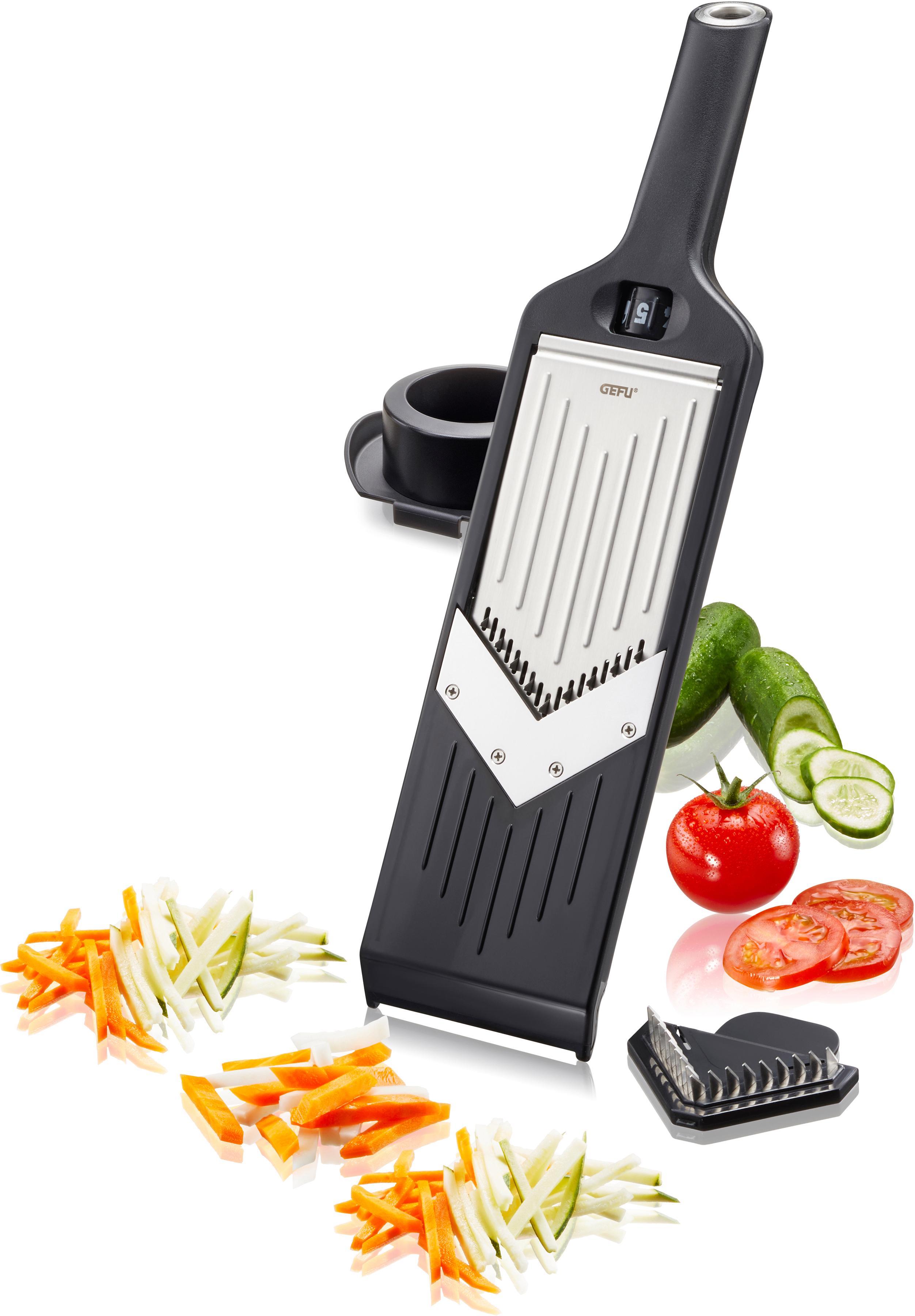 GEFU Gemüsehobel VIOLI 2.0, V-Hobel Julienne schwarz Reiben Hobel Kochen Backen Haushaltswaren Küchenreiben