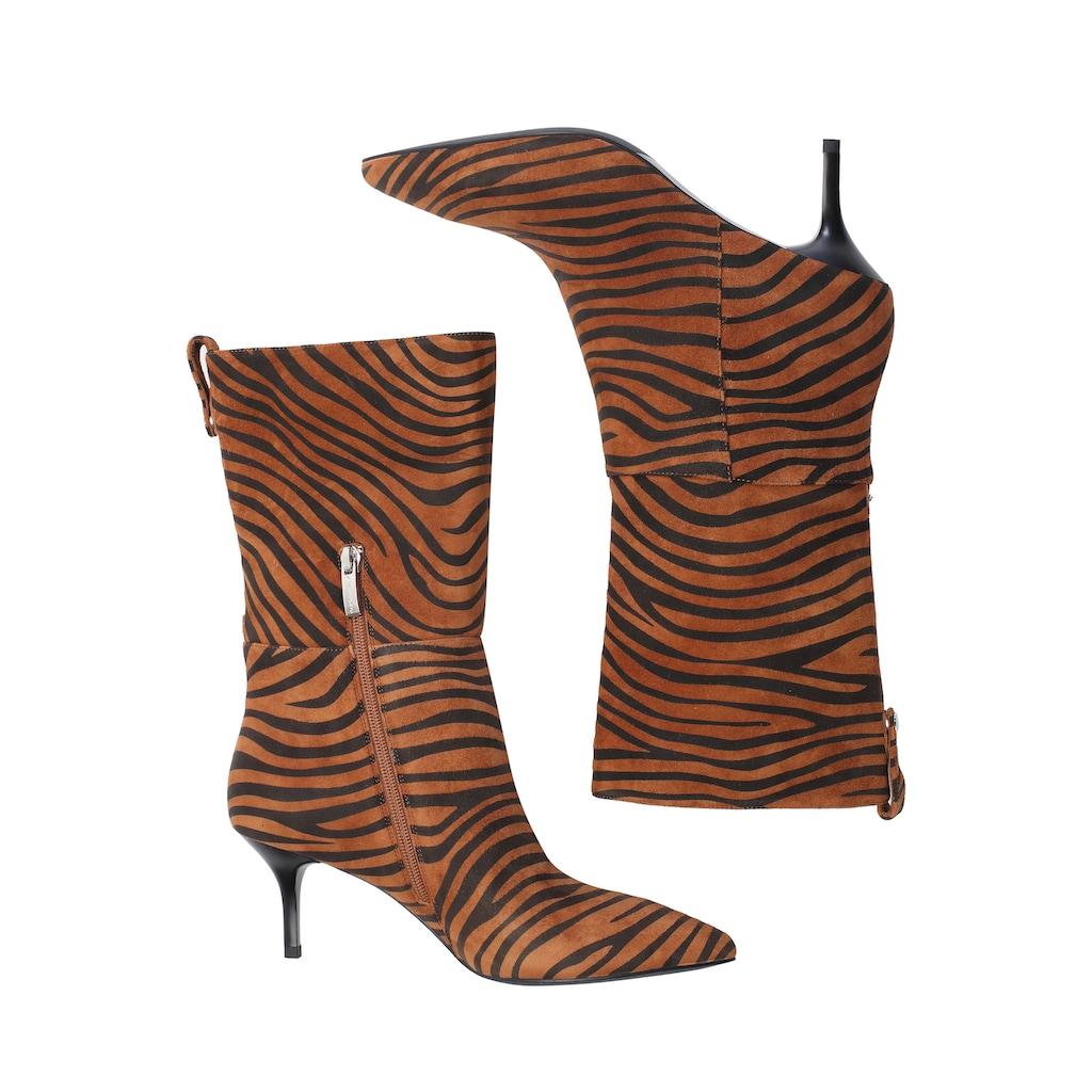 ekonika Stiefelette, im stylischem Zebra-Look