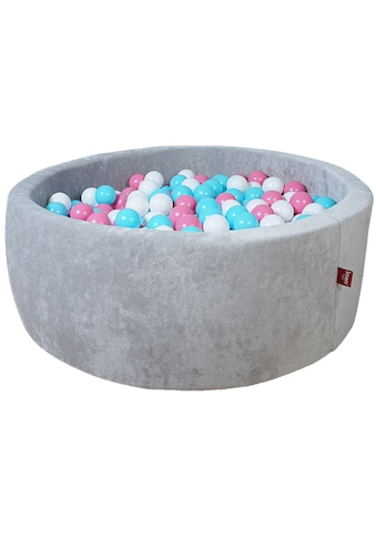 Knorrtoys® Bällebad »Soft, Grey«, mit 300 Bällen rose/creme/lightblue; Made in Germany kaufen