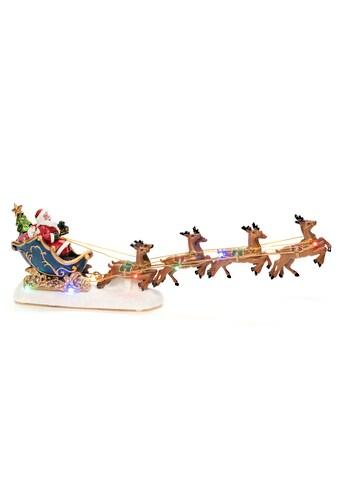 KONSTSMIDE LED Dekofigur »Weihnachtsmann im Schlitten mit Rentieren«, Höhe ca. 14 cm kaufen
