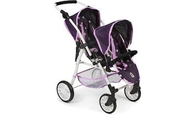 "CHIC2000 Puppen - Zwillingsbuggy ""Tandem - Puppen - Buggy Twinny, Stars lila"" kaufen"