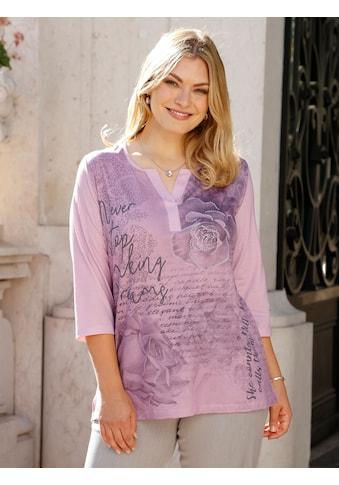 m. collection 3/4-Arm-Shirt, mit glitzernden Nieten kaufen