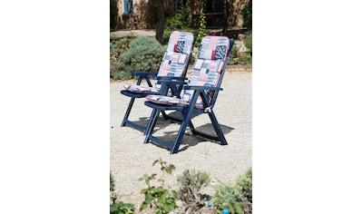 Best Gartenstuhl »Elise«, Kunststoff, verstellbar, blau, inkl. Auflage kaufen