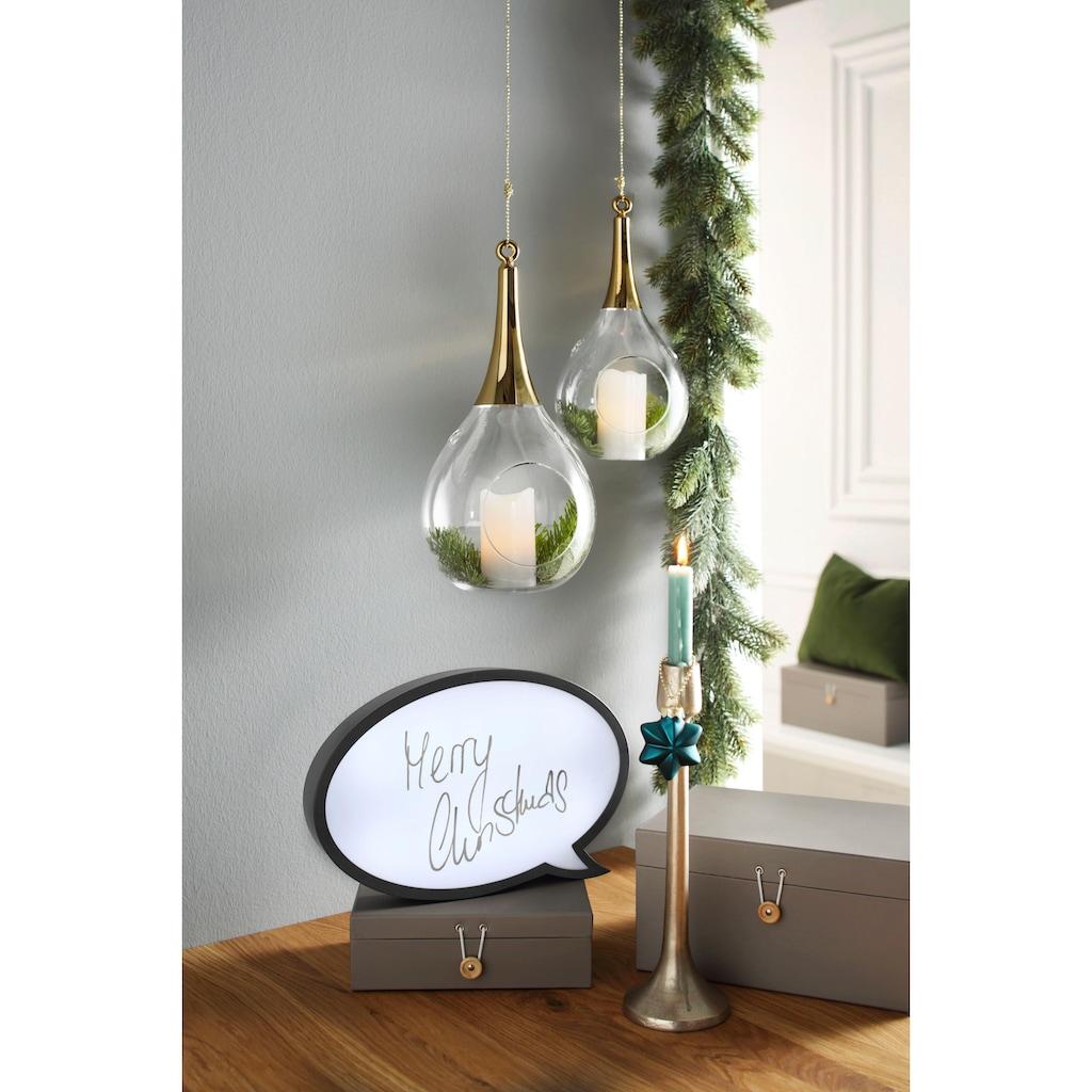 SOMPEX Windlicht »TAURA«, aus Glas, mundgeblasen, goldfarben