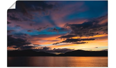 Artland Wandbild »Blick auf den Storfjord Norwegen Abend«, Küste, (1 St.), in vielen... kaufen