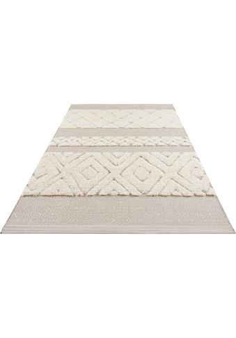 MINT RUGS Teppich »Todra«, rechteckig, 22 mm Höhe, Hoch-Tief-Struktur, Wohnzimmer kaufen