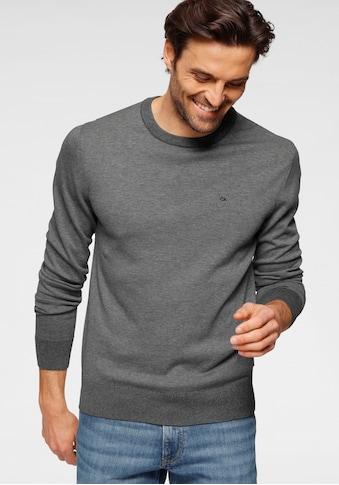 Calvin Klein Rundhalspullover »COTTON SILK C-NECK SWEATER« kaufen