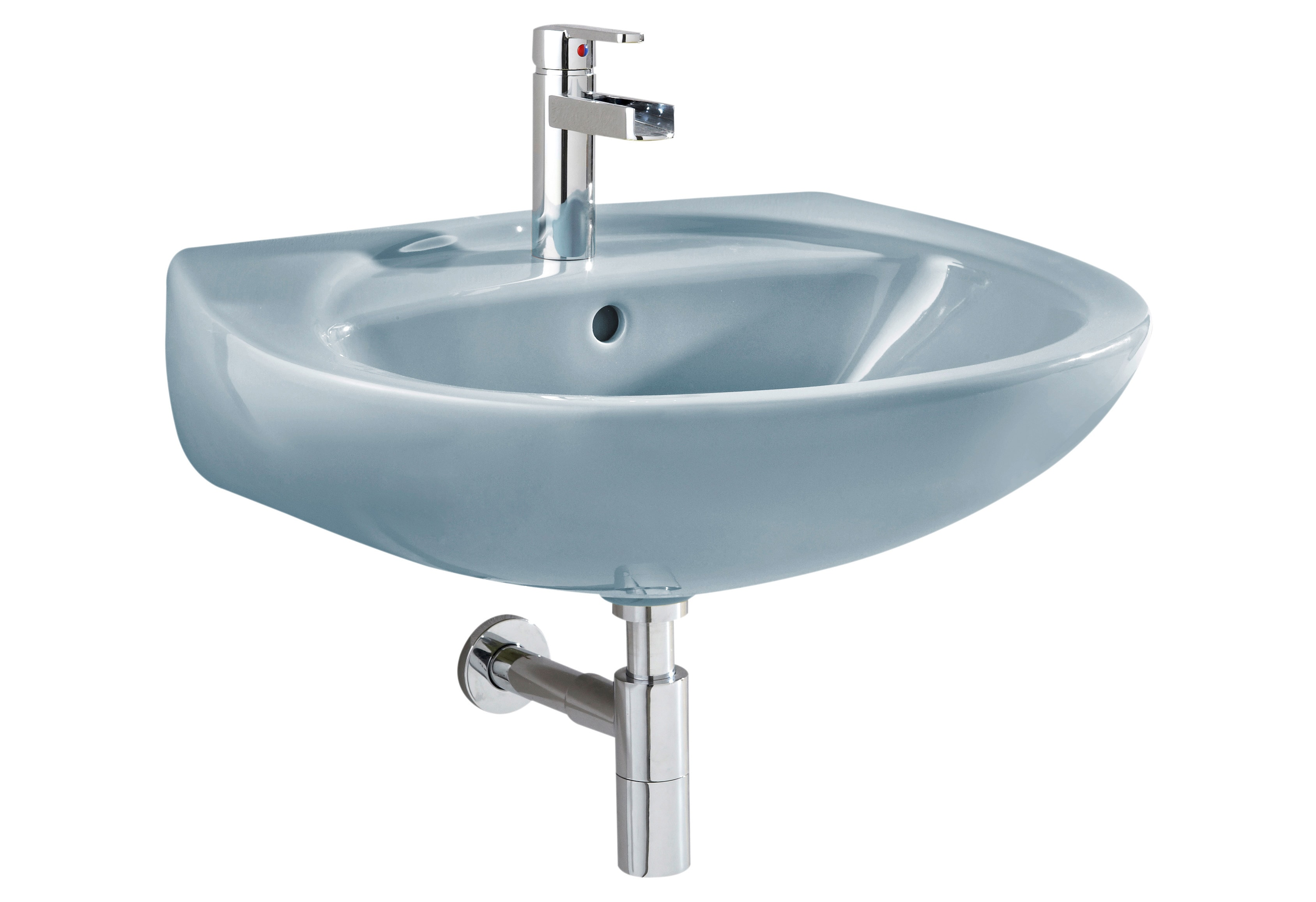 CORNAT Waschbecken, Breite 60,5 cm blau Waschbecken Bad Sanitär