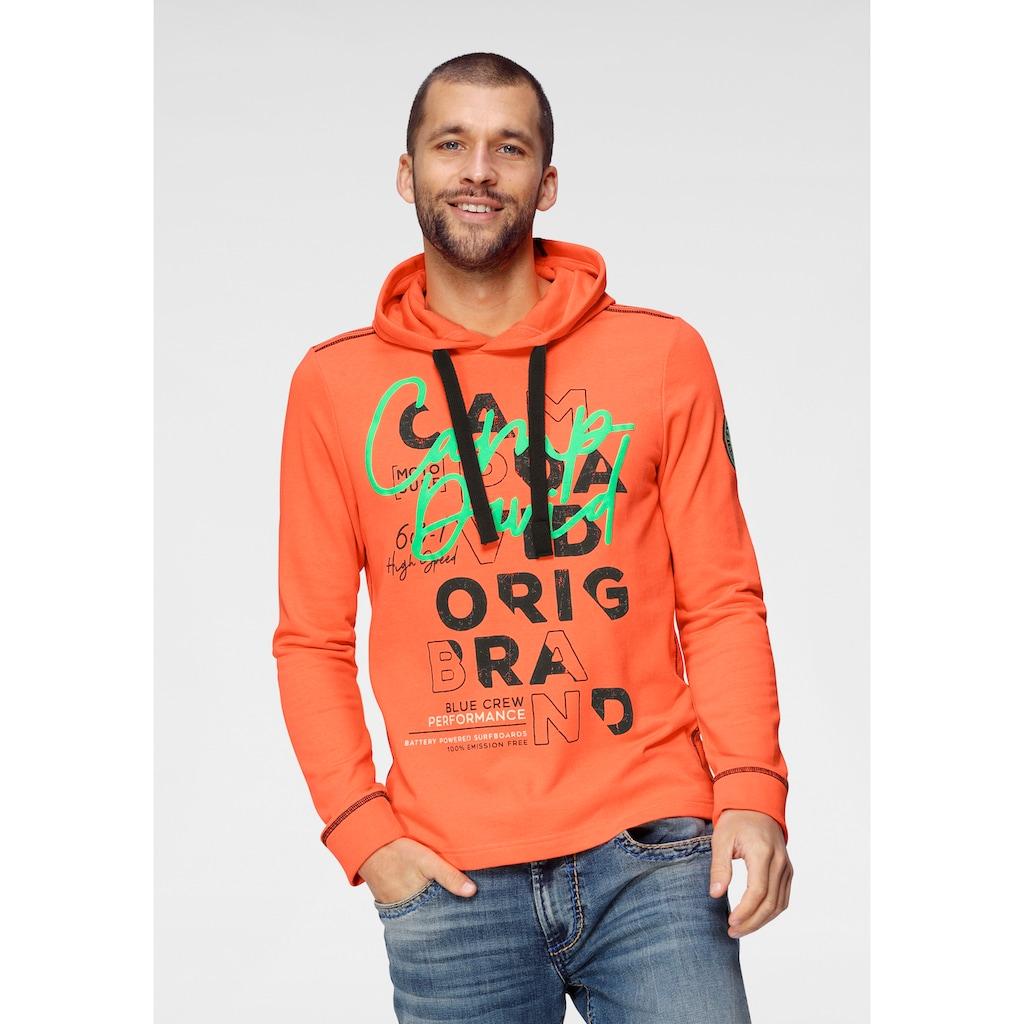 CAMP DAVID Kapuzensweatshirt, mit großem Logofrontprint