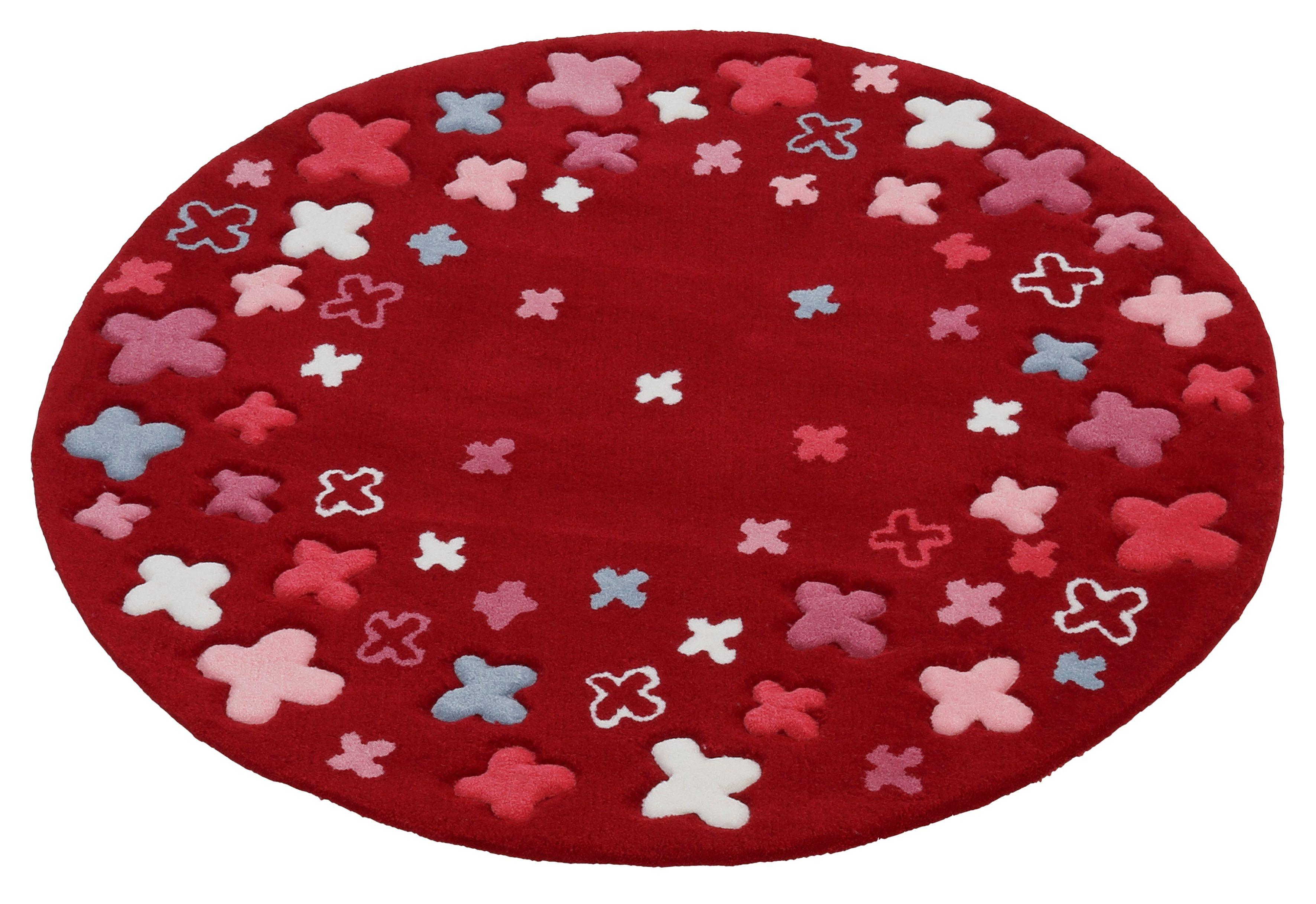 Kinderteppich Bloom Field Esprit rund Höhe 10 mm handgetuftet Preisvergleich