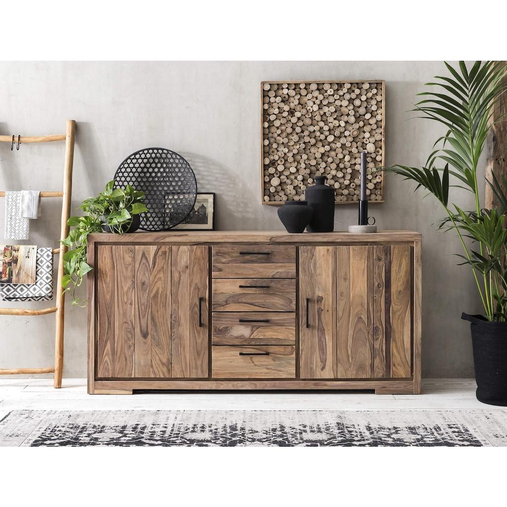 SIT Sideboard »Sanam«, aus Sheesham Holz mit schöner Struktur, Breite 176 cm