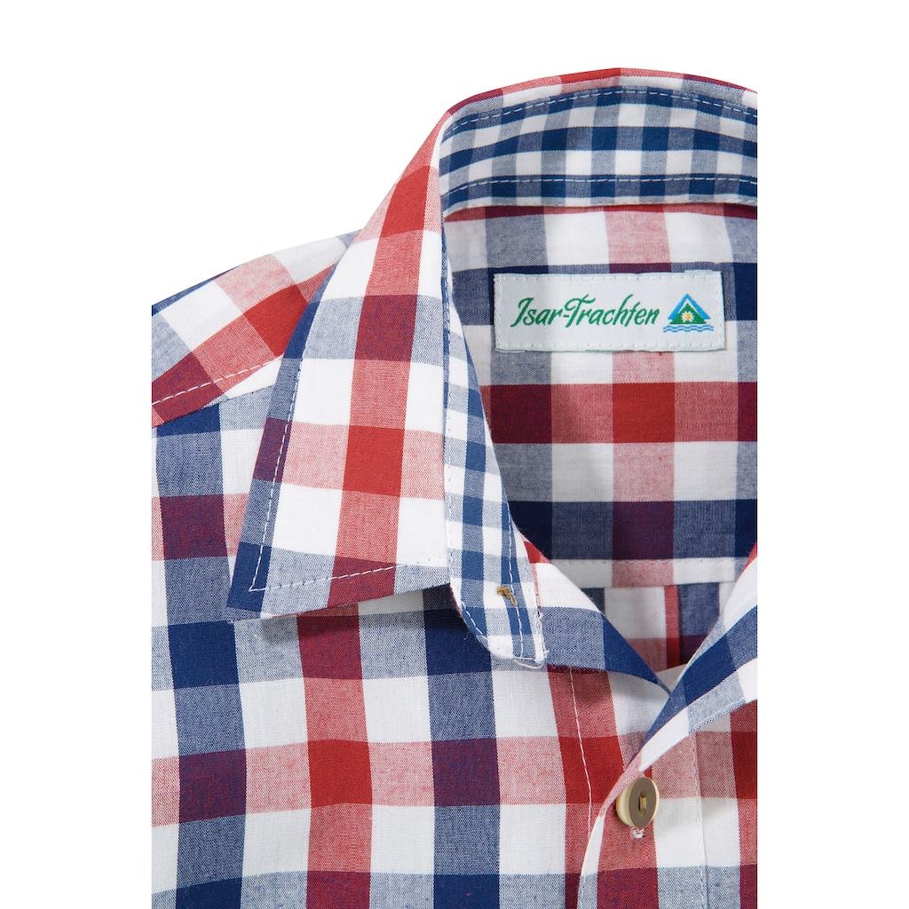 Isar-Trachten Trachtenhemd, in Karo-Optik