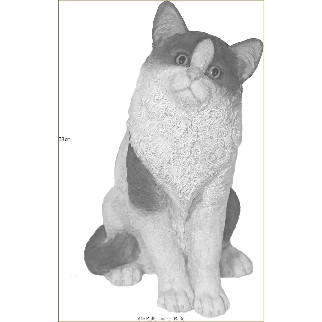 Casa Collection by Jänig Tierfigur »Katze sitzend, schwarz-weiß, Höhe: 38cm«