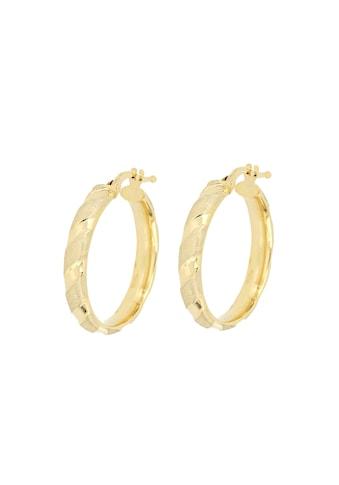 La Piora Paar Creolen »Eleganz«, glanz/satiniert, 375/- Gelbgold kaufen