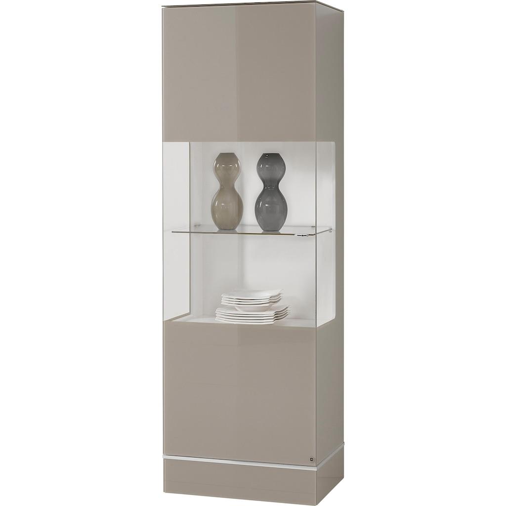 LEONARDO Glasvitrine »CUBE«, mit Klarglas, wahlweise mit Beleuchtung, Höhe 192 cm