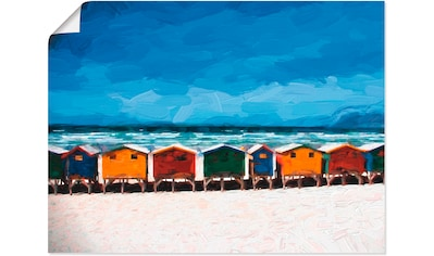 Artland Wandbild »Häuser am Meer«, Strand, (1 St.), in vielen Größen & Produktarten... kaufen