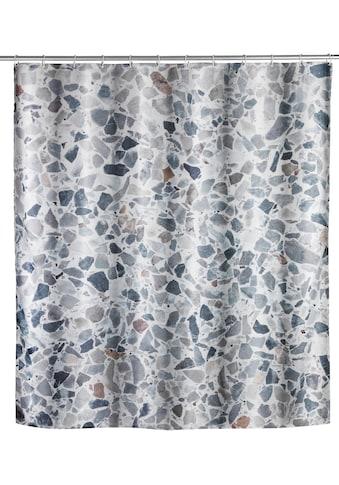 WENKO Duschvorhang »Terrazzo«, Breite 180 cm, Höhe 200 cm, Textil (Polyester) kaufen