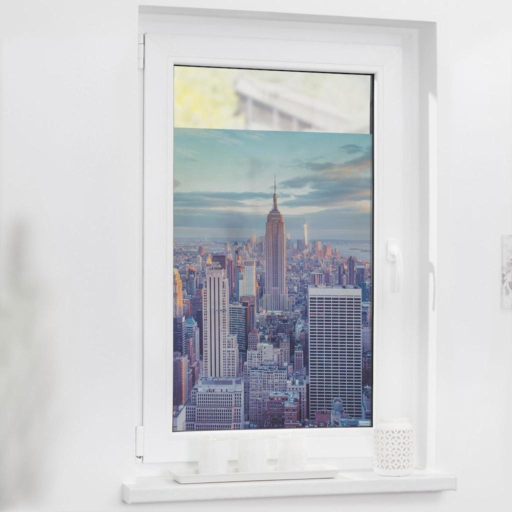 LICHTBLICK ORIGINAL Fensterfolie »New York«, 1 St., blickdicht, strukturiertKlebepunkte, selbstklebend, Sichtschutz