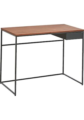 now! by hülsta Schreibtisch »CT 17«, mit Schublade und grauem Gestell kaufen