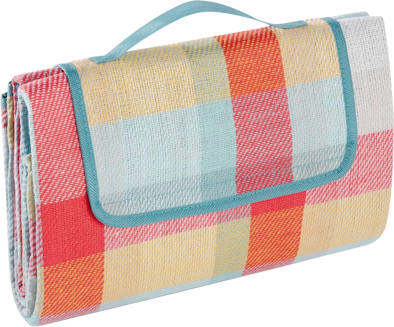 BIEDERLACK Picknickdecke Picknickdecke, Nässe und Schmutz abweisende Unterseite rot Kunstfaserdecken Decken Wohndecken