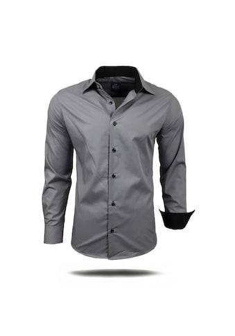 Rusty Neal Langarmhemd mit farblich abgesetzten Elementen kaufen