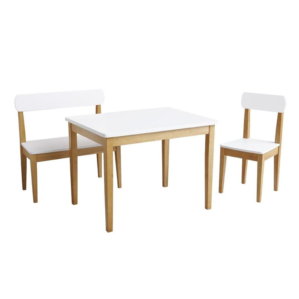 roba® Kindersitzgruppe »Weiß/Natur« (3-tlg)