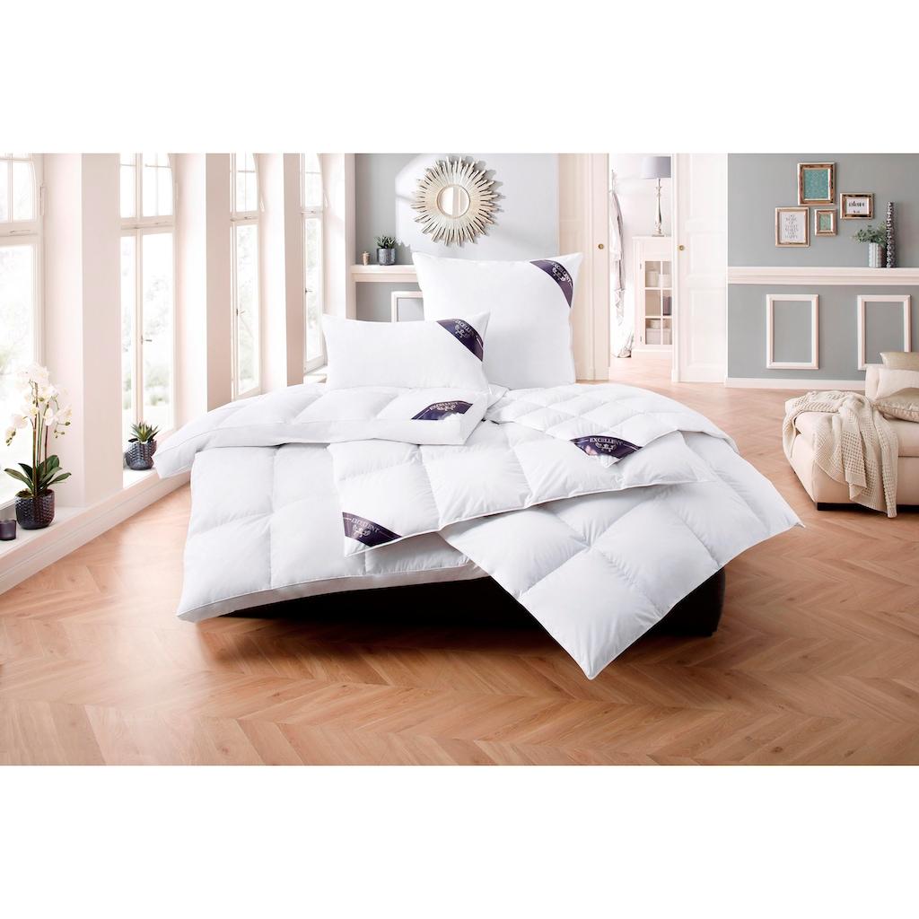 Excellent Daunenbettdecke + Daunenkissen »Lugano«, (Spar-Set), Hochwertiges Naturprodukt