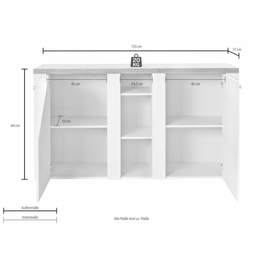 TRENDMANUFAKTUR Sideboard »Larona«, Breite 155 cm