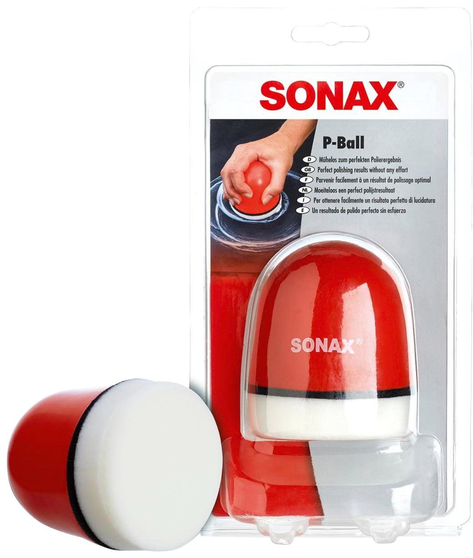 Sonax Polierschwamm P-Ball, (1 St.) rot Autopflege Autozubehör Reifen