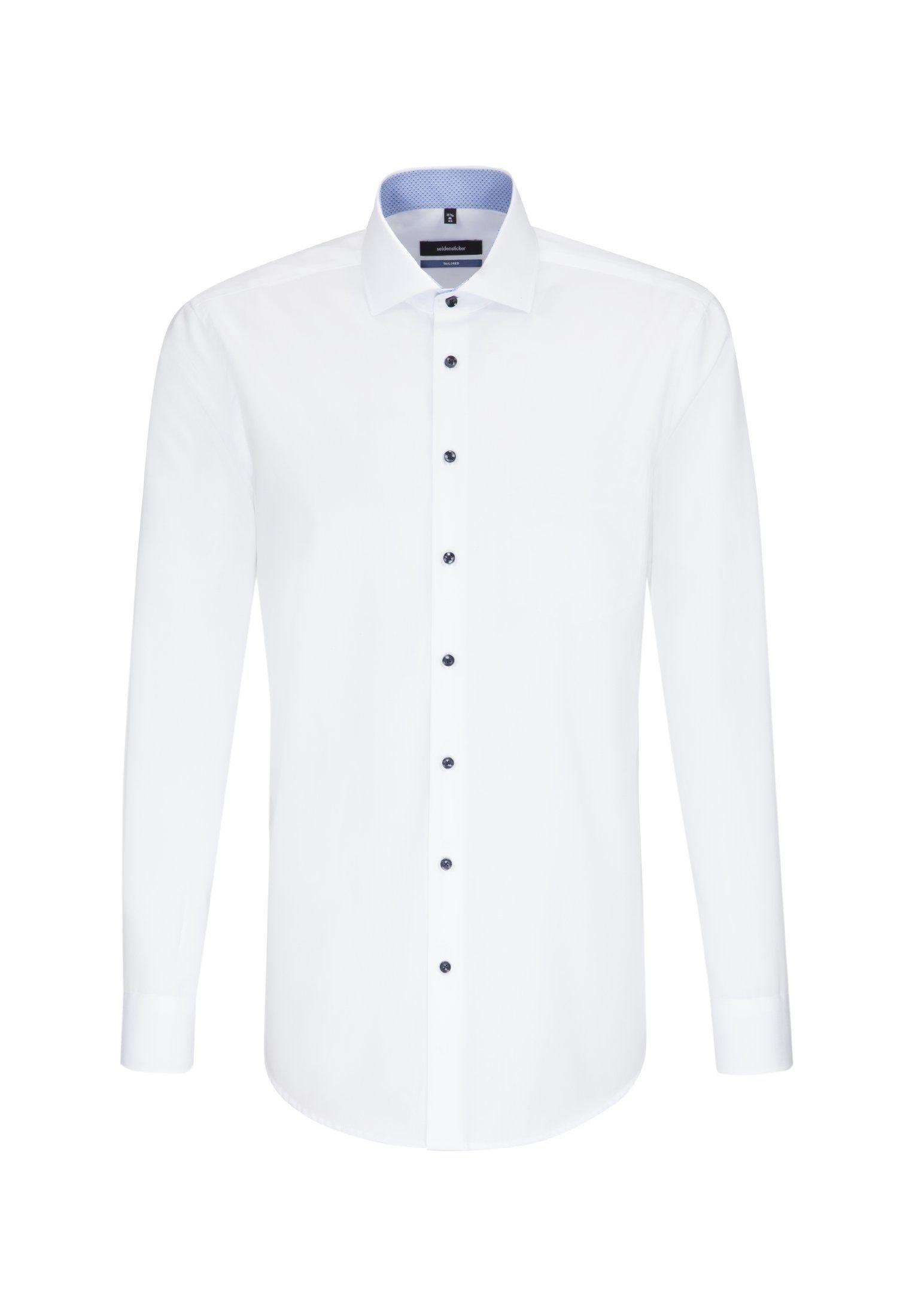 seidensticker Businesshemd Tailored | Bekleidung > Hemden > Business Hemden | Weiß | Popeline | Seidensticker