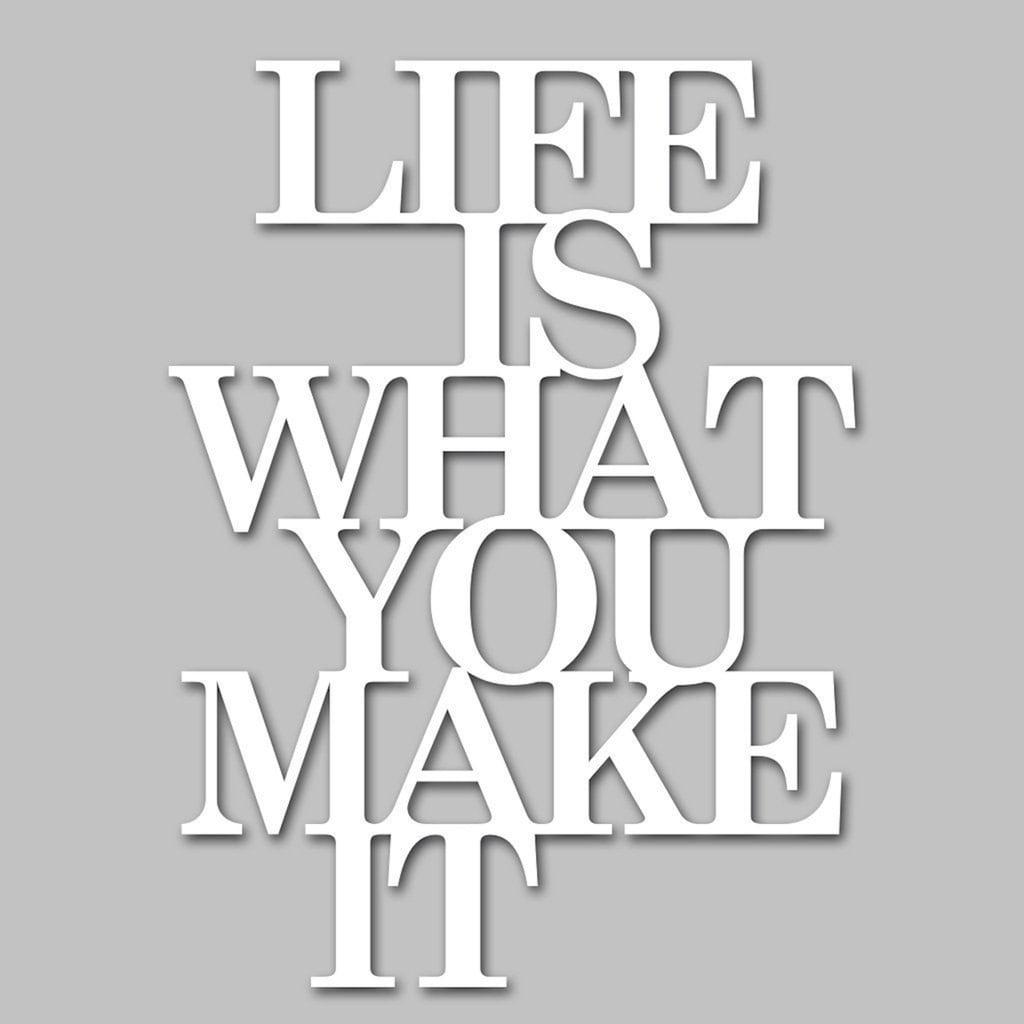 """Home affaire Wandbild »Schriftzug """"Life is what you make it""""«, Maße (B/H): 39/50 cm"""