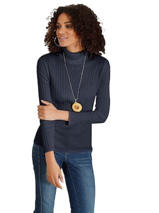casual looks pullover mit optisch streckenden. Black Bedroom Furniture Sets. Home Design Ideas