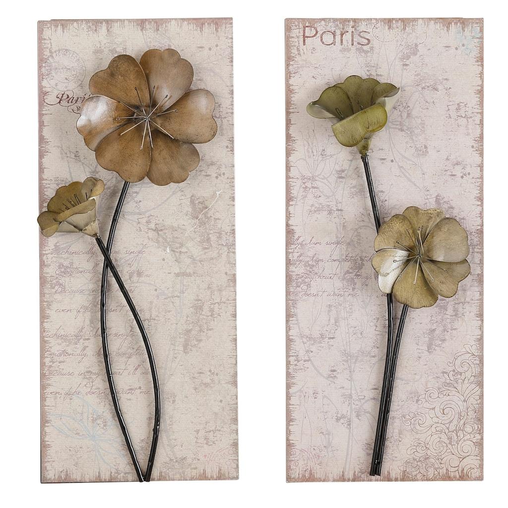 HOFMANN LIVING AND MORE Wandbild »Used-Look-Optik«, (Set), 2x 30/71 cm