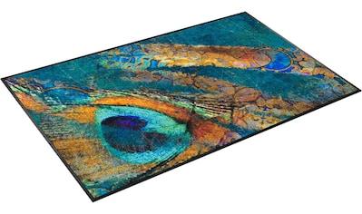 Teppich, »Exotic Pavo«, wash+dry by Kleen - Tex, rechteckig, Höhe 7 mm, gedruckt kaufen
