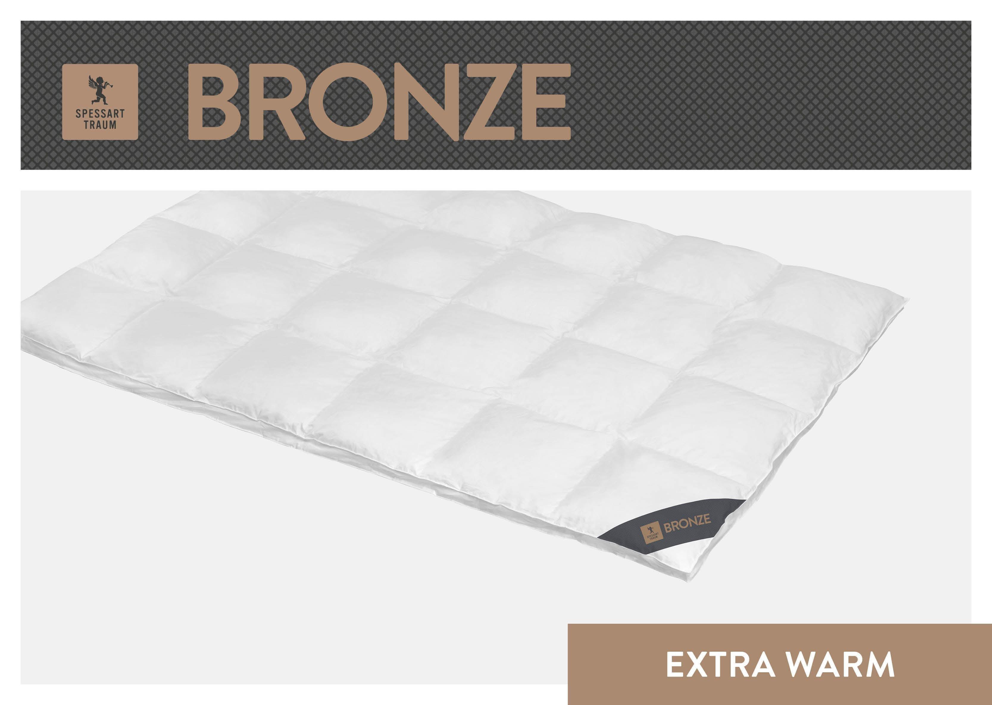 Daunenbettdecke Bronze SPESSARTTRAUM extrawarm Füllung: 90% Daunen 10% Federn Bezug: 100% Baumwolle