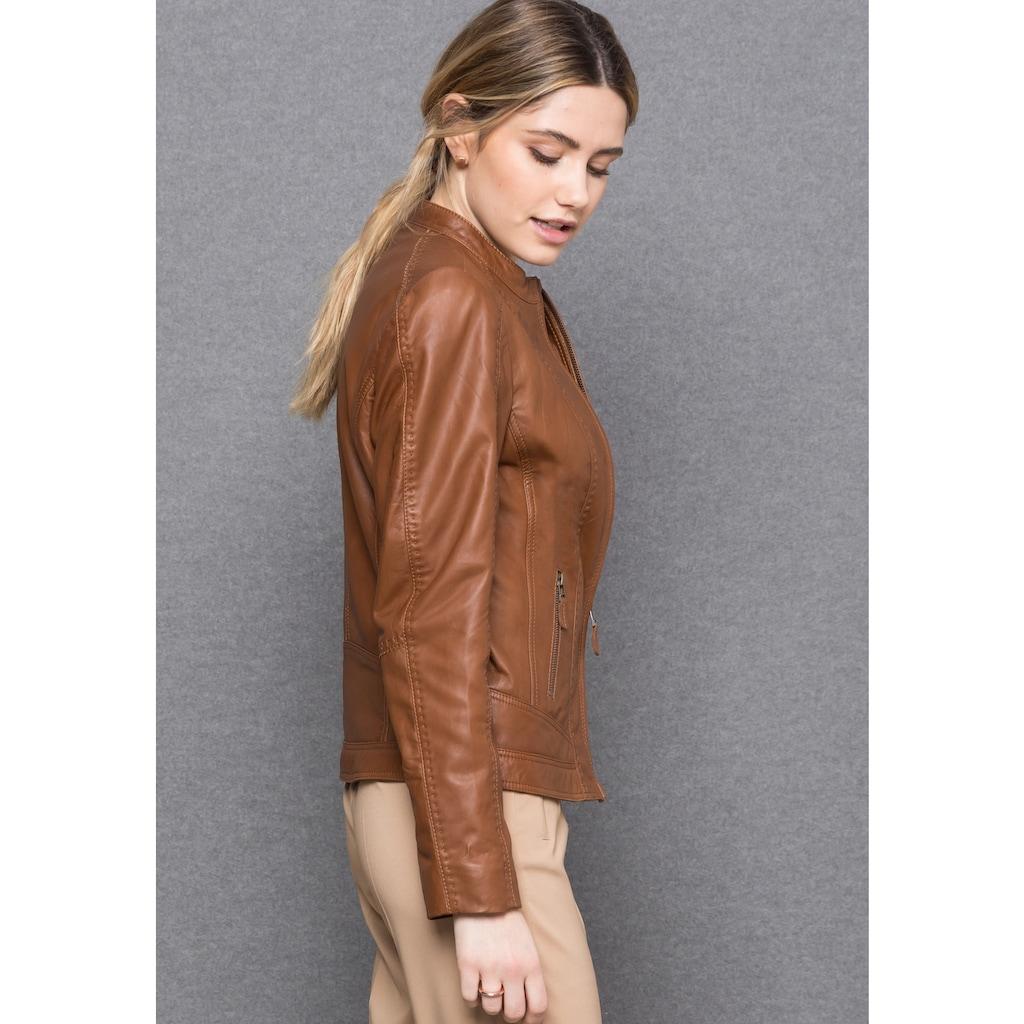 bianca Lederjacke »LUCILLE«, aus 100 % Leder mit Futter unterlegt