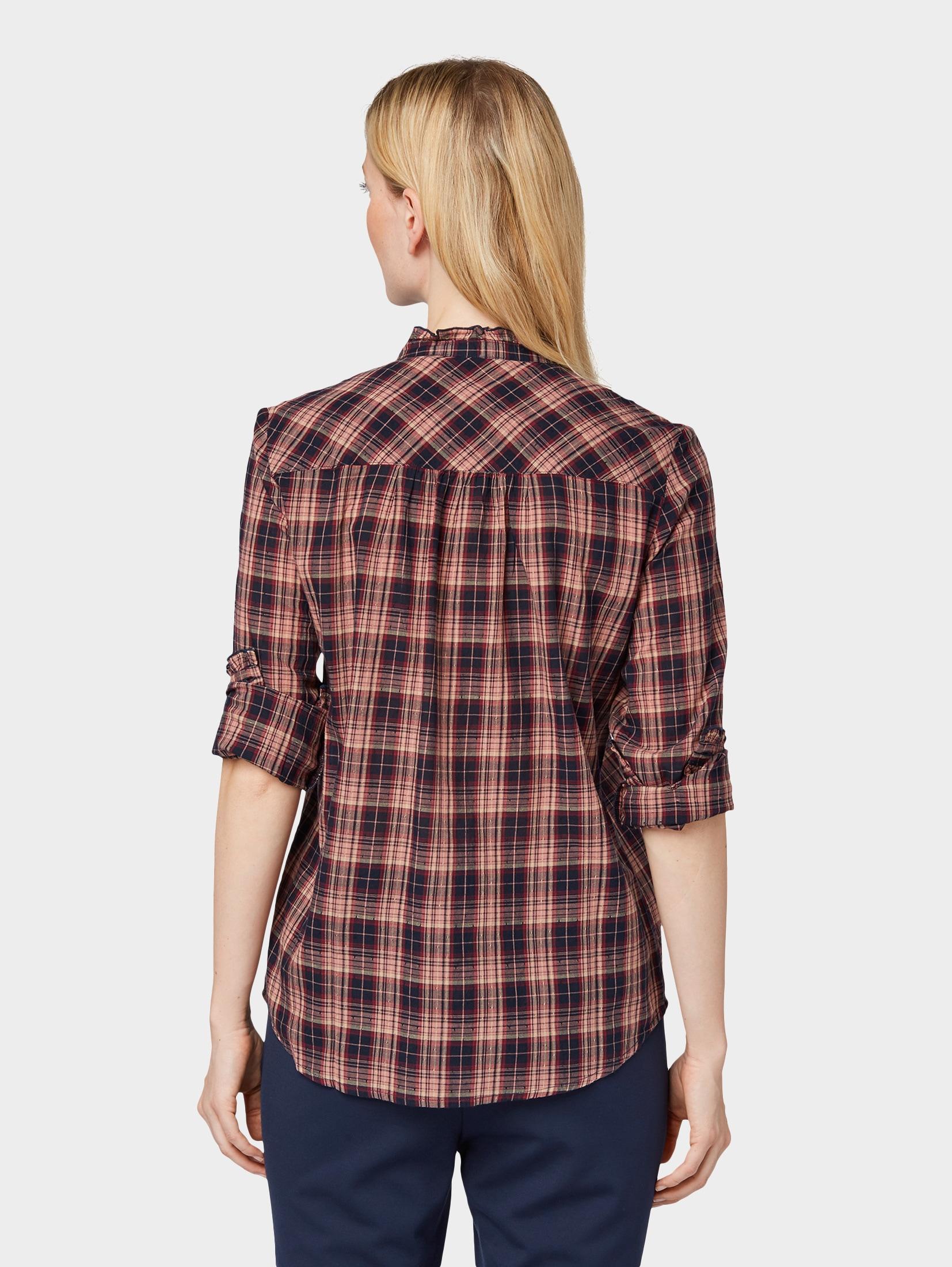 tom tailor -  Hemdbluse Bluse mit strukturiertem Karomuster