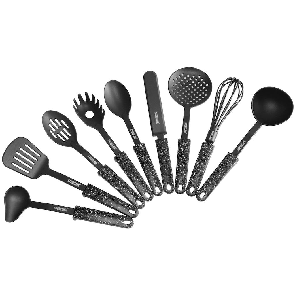 STONELINE Kochbesteck-Set, (Set, 9 tlg.), Kunststoff, mit Stütze