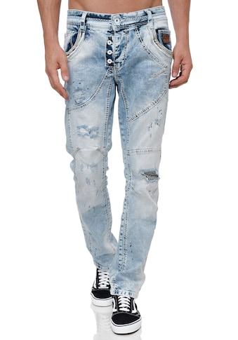 Rusty Neal Straight-Jeans, in modischem Destroyed-Look kaufen