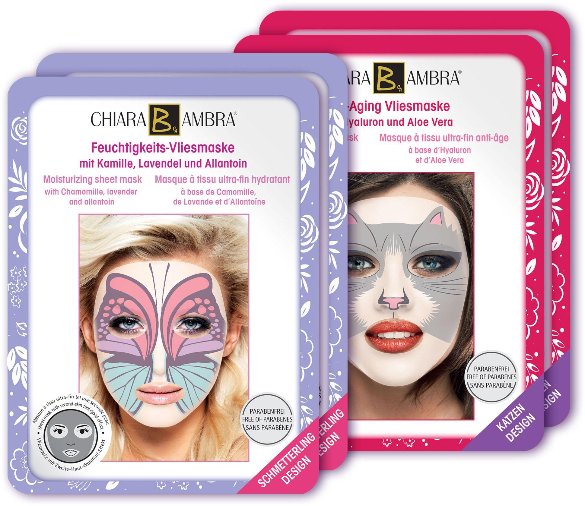 Chiara Ambra,  Vliesmasken mit Tierdesign , Gesichtspflege-Set (4-tlg.) Preisvergleich
