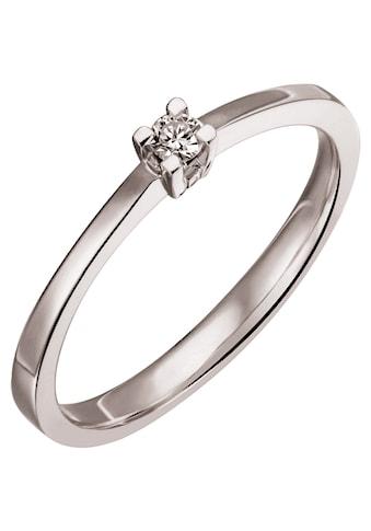 Firetti Diamantring »Solitär, ca. 2,10 mm breit, edel, glänzend, massiv«, mit Brillant kaufen