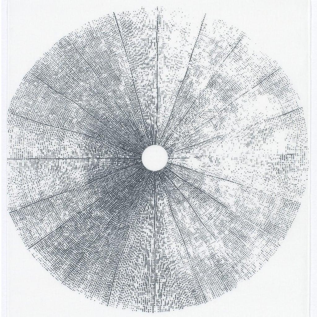 GARDINIA Schiebegardine »Flächenvorhang Stoff Tree mit silbernen Paneelwagen«, HxB: 245x60
