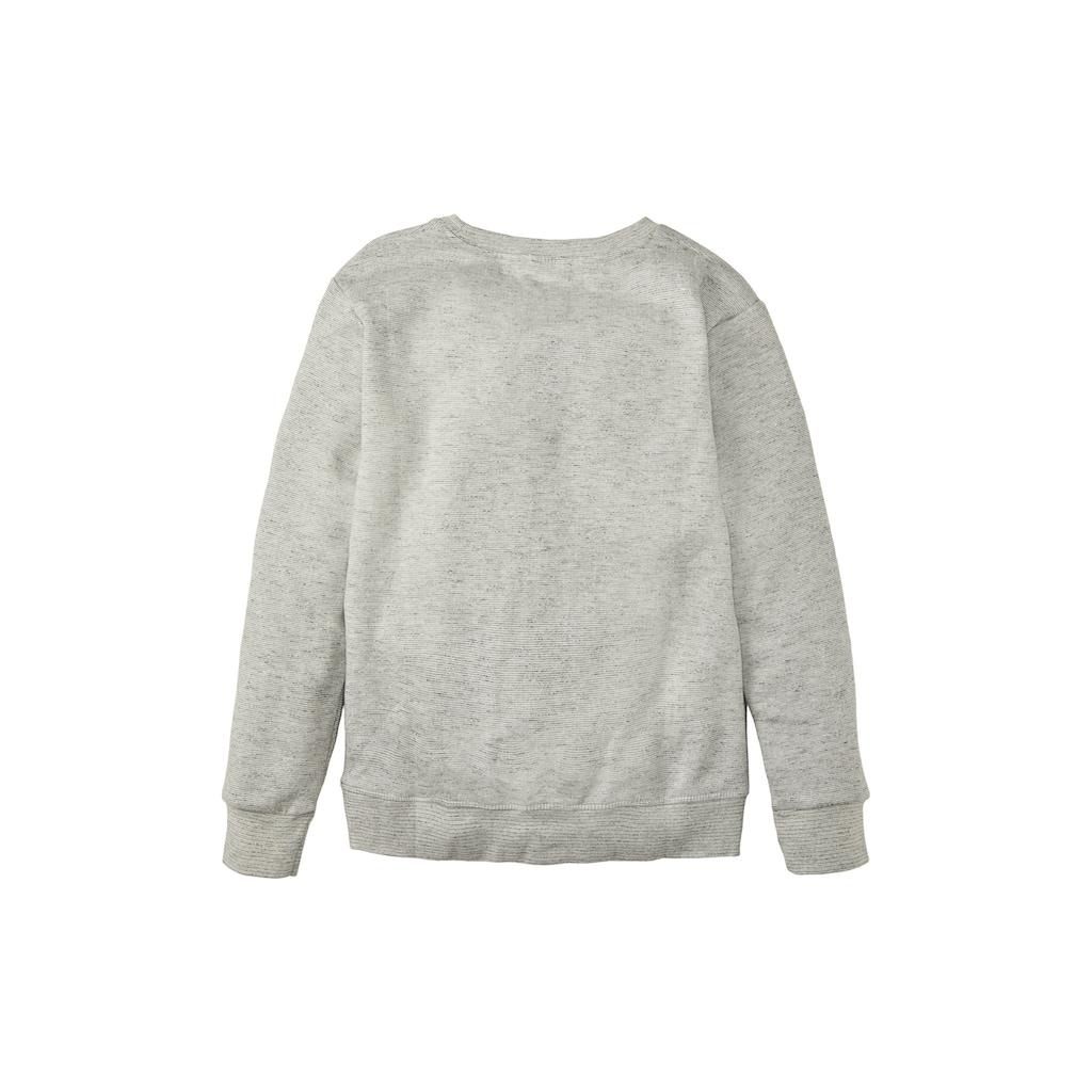TOM TAILOR Sweatshirt »Meliertes Sweatshirt mit Print«